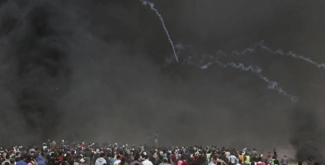 Tembakan Tentara Israel Yang Melukai Banyak Warga