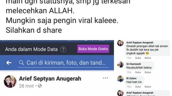 'Arief Septyan Anugerah Membuat Lelucon Gempa Harus Berurusan Dengan Polisi