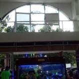Terjangan Hujan Deras Pecahkan Kaca-kaca di RS Mulia Bogor