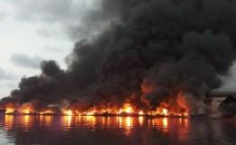 6 Orang Diperiksa Terkait Kebakaran Belasan Kapal Nelayan di Muara Baru